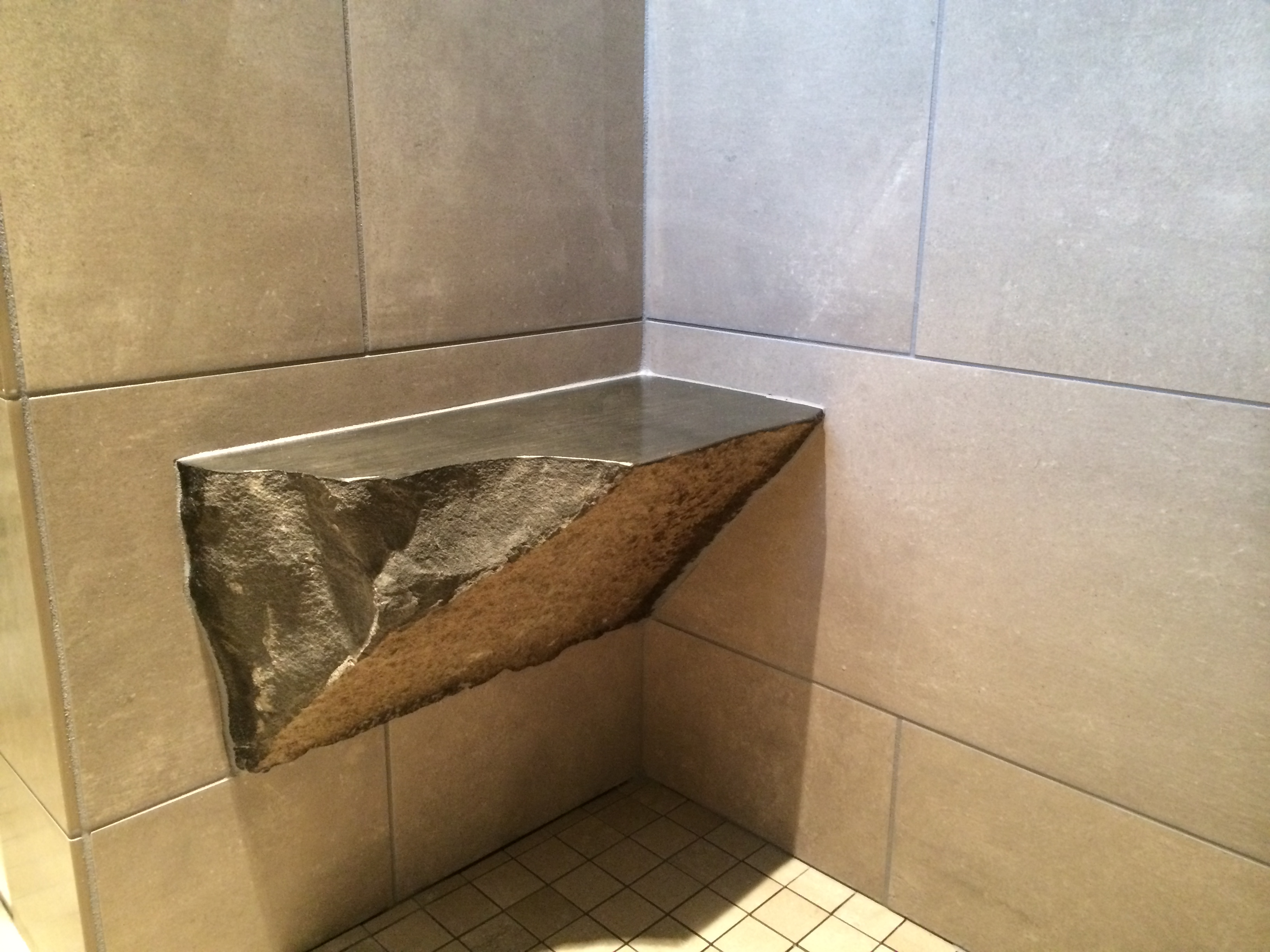 Rock shower bench - Home Construction & Remodel Vancouver, WA