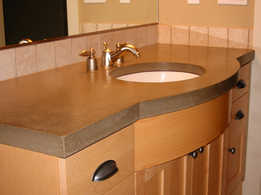 Bathroom Remodeling Vancouver Wa concrete-countertop-2 - kitchen, bath, laundry remodel vancouver, wa