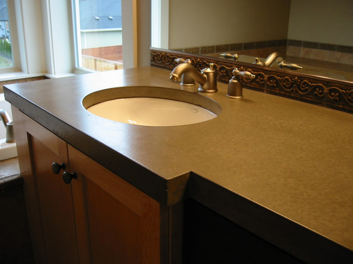 Concrete countertop 3 kitchen bath laundry remodel for Bathroom remodel vancouver wa