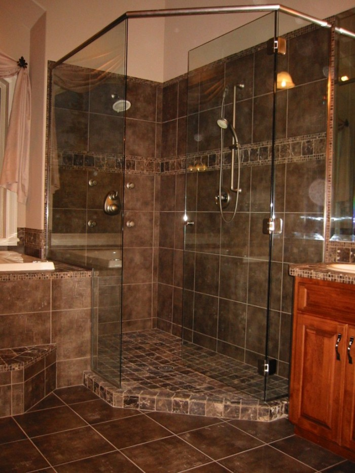 Custom tile shower 768x1024 kitchen bath laundry for Bathroom remodel vancouver wa