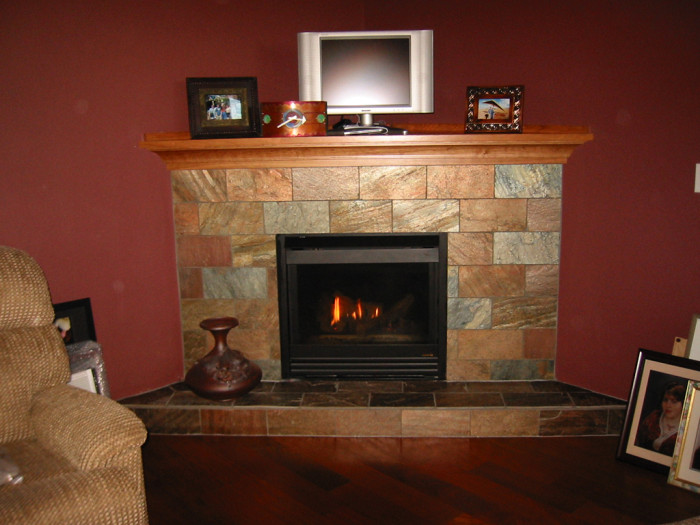 Slate tile for a fireplace interior exterior doors 1000 for Bath remodel vancouver wa