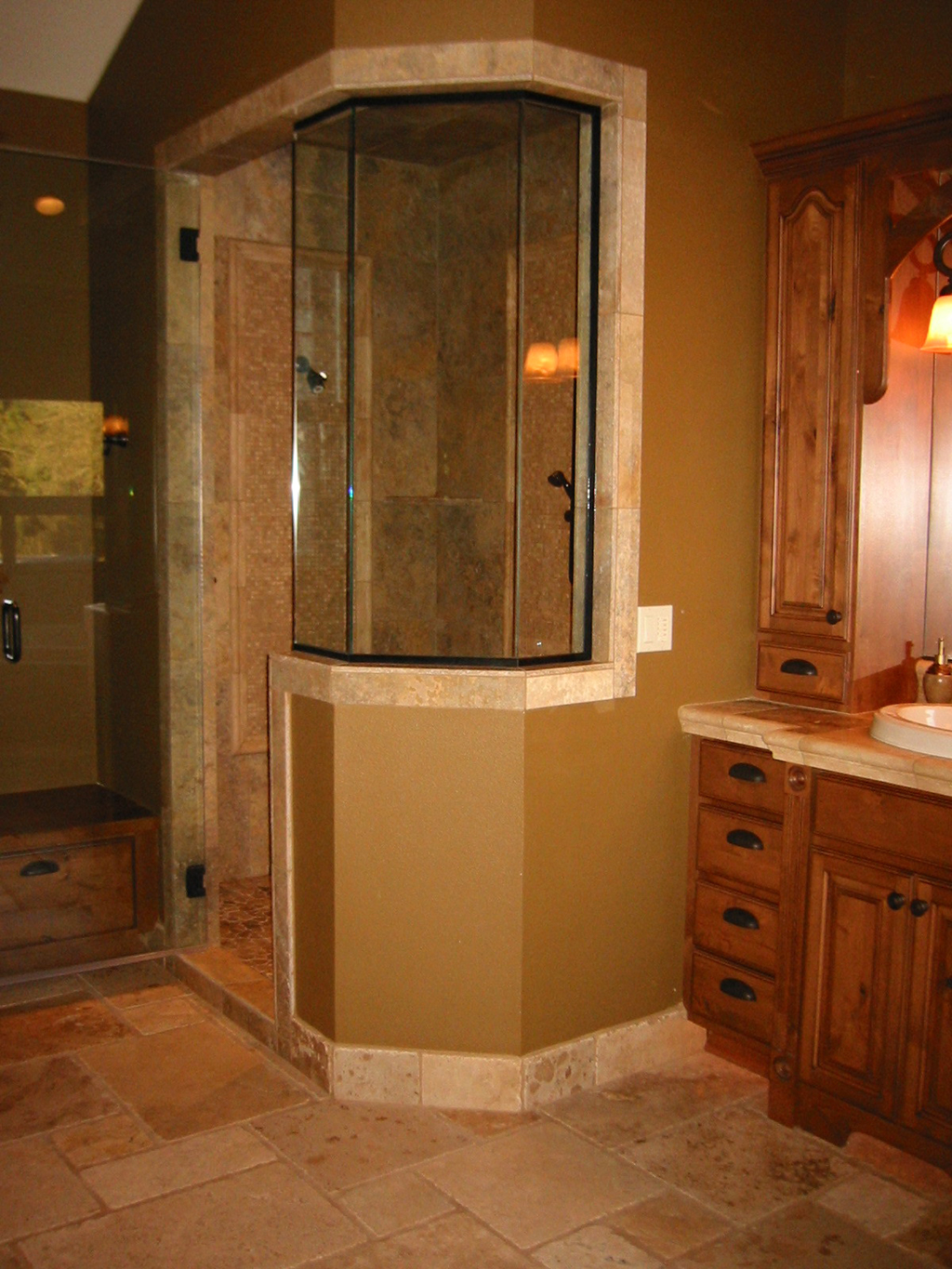 Travertine Shower 3 Home Construction Remodel