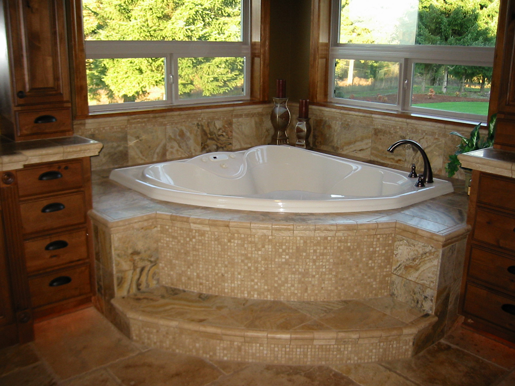 Tiled Kitchens Ideas Travertine Tub Surround Home Construction Amp Remodel